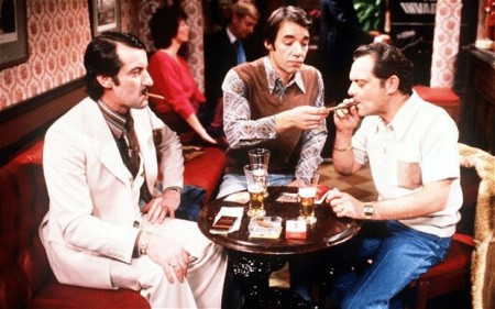 Halcyon Days: Boycie (John Challis), Trigger (Roger Lloyd Pack) and Del Trotter (David Jason). (Photo: BBC)