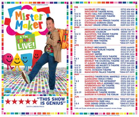 Mister Maker tour 2016